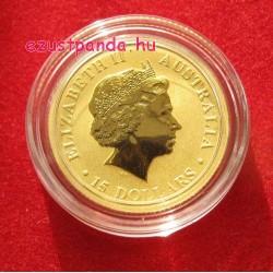 Kenguru 2016 1/10 uncia arany pénzérme
