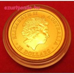 Kenguru 2017 1/10 uncia arany pénzérme