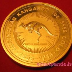 Kenguru 2014 1 uncia jubileumi arany pénzérme