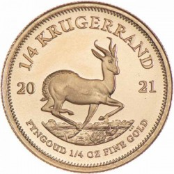 Krugerrand 2021 1/4 uncia arany pénzérme