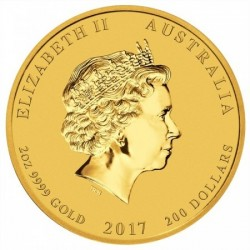 Lunar2 Kakas éve 2017 2 uncia arany pénzérme