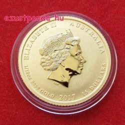 Lunar2 Kakas éve 2017 1/10 uncia arany pénzérme