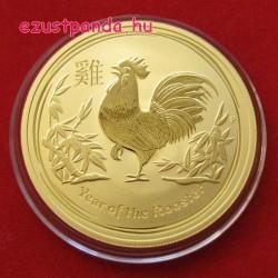 Lunar2 Kakas éve 2017 1/4 uncia arany pénzérme