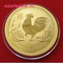 Lunar2 Kakas éve 2017 1 uncia arany pénzérme