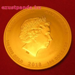 Lunar2 Kutya éve 2018 1 uncia arany pénzérme