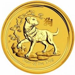Lunar2 Kutya éve 2018 1/4 uncia arany pénzérme