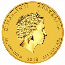 Lunar2 Kutya éve 2018 2 uncia arany pénzérme