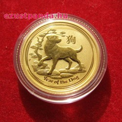 Lunar2 Kutya éve 2018 1/10 uncia arany pénzérme