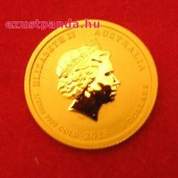 Lunar2 Kutya éve 2018 1/20 uncia arany pénzérme