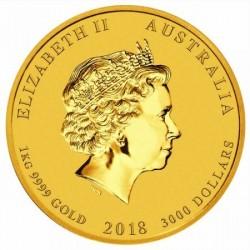 Lunar2 Kutya éve 2018 1 kilogramm arany pénzérme