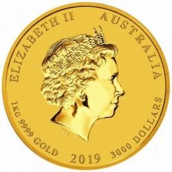 Lunar2 Disznó éve 2019 1 kilogramm arany pénzérme