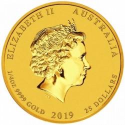Lunar2 Disznó éve 2019 1/4 uncia arany pénzérme