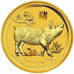 Lunar2 Disznó éve 2019 1/10 uncia proof arany pénzérme