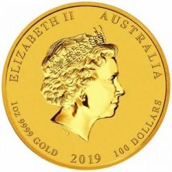 Lunar2 Disznó éve 2019 1 uncia arany pénzérme