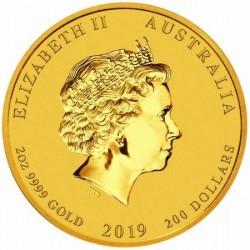 Lunar2 Disznó éve 2019 2 uncia arany pénzérme