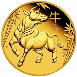 Lunar3 Bivaly éve 2021 1/10 uncia proof arany pénzérme