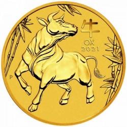 Lunar3 Bivaly éve 2021 1/10 uncia arany pénzérme