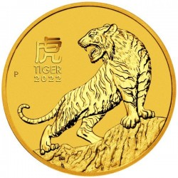Lunar3 Tigris éve 2022 1/10 uncia arany pénzérme