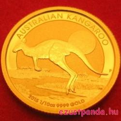 Kenguru 2015 1/10 uncia arany pénzérme