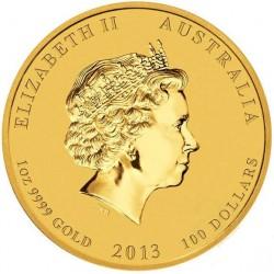 Lunar2 Kígyó éve 2013 1 uncia arany pénzérme