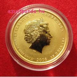 Lunar2 Majom éve 2016 1/10 uncia arany pénzérme