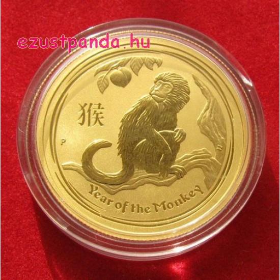 Lunar2 Majom éve 2016 1/4 uncia arany pénzérme