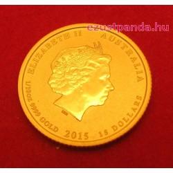Lunar2 Kecske éve 2015 1/10 uncia arany pénzérme