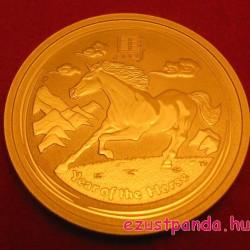 Lunar2 Ló éve 2014 1/2 uncia arany pénzérme