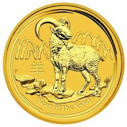 Lunar2 Kecske éve 2015 1/4 uncia arany pénzérme