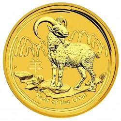 Lunar2 Kecske éve 2015 1/2 uncia arany pénzérme