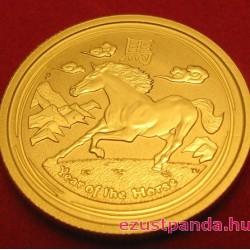 Lunar2 Ló éve 2014 1 uncia arany pénzérme