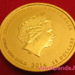 Lunar2 Ló éve 2014 1/10 uncia arany pénzérme