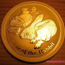 Lunar2 Nyúl éve 2011 1 uncia arany pénzérme