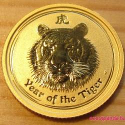 Lunar2 Tigris éve 2010 1/10 uncia arany pénzérme