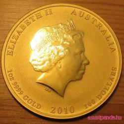 Lunar2 Tigris éve 2010 1 uncia arany pénzérme