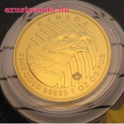 Szirti sas 2018 1 uncia 99,999 kanadai arany pénzérme