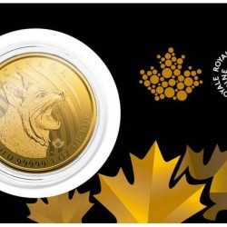 Bobcat (Vörös hiúz) 2020 1 uncia 99,999 kanadai arany pénzérme