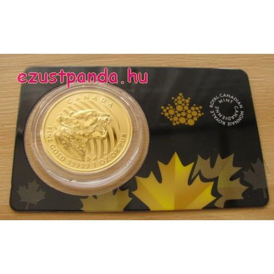 Morgó Puma 2015 1 uncia 99,999 kanadai arany pénzérme