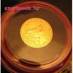 Üvöltő Farkas 2015 1/10 uncia 99,999 kanadai arany pénzérme