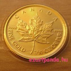 Maple Leaf 2020 1/10 uncia kanadai arany pénzérme