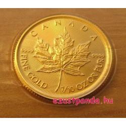 Maple Leaf 2019 1/10 uncia kanadai arany pénzérme