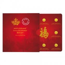 Maplegram kanadai 8x1g arany érmék
