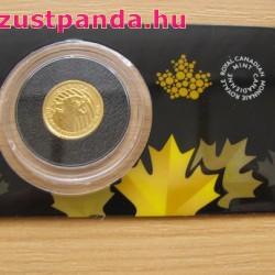 Morgó Puma 2016 1/10 uncia 99,999 kanadai arany pénzérme