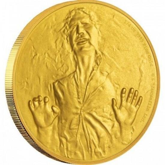 Star Wars Han Solo 1/4 uncia proof arany pénzérme