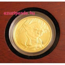 Star Wars Yoda 1/4 uncia proof arany pénzérme