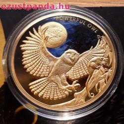Nagy héjabagoly 2018 1 uncia proof arany pénzérme - csak 150 példány!