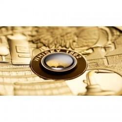 Whisky 2018 2 uncia proof high-relief arany pénzérme - csak 300 példány!
