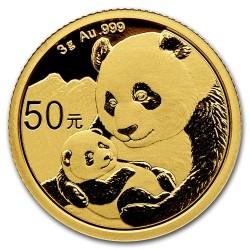 Panda 2019 3g arany pénzérme