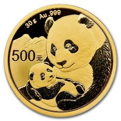 Panda 2019 30g arany pénzérme