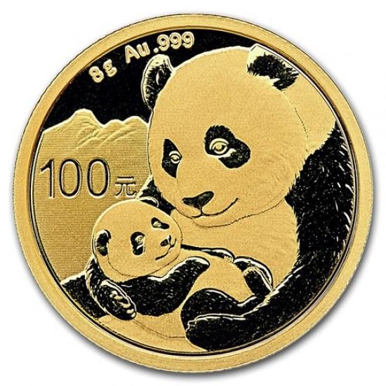 Panda 2019 8g arany pénzérme
